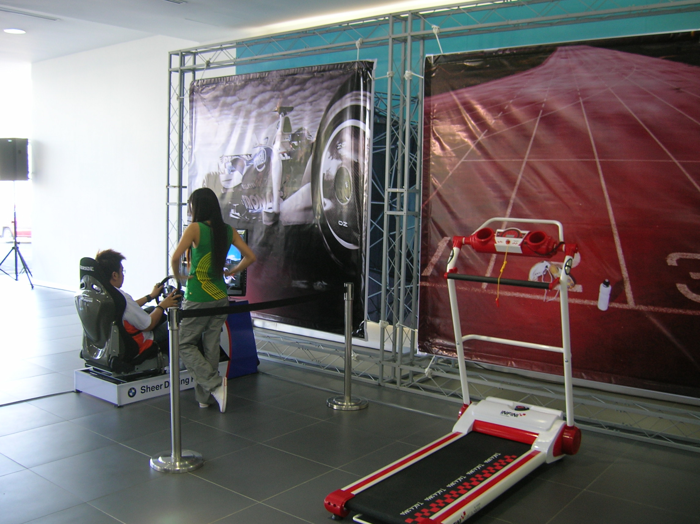 PS simulator and treadmill - you can win a weekend in a BMW here.