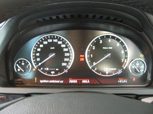 Instrument panel is a big LCD screen.