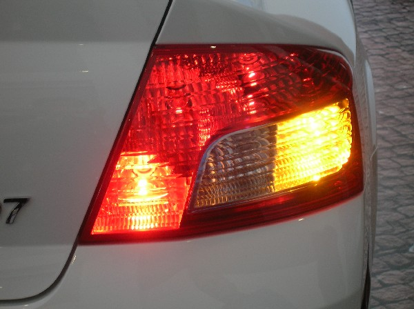 Closer look at the taillights. Rear fog lamps standard.