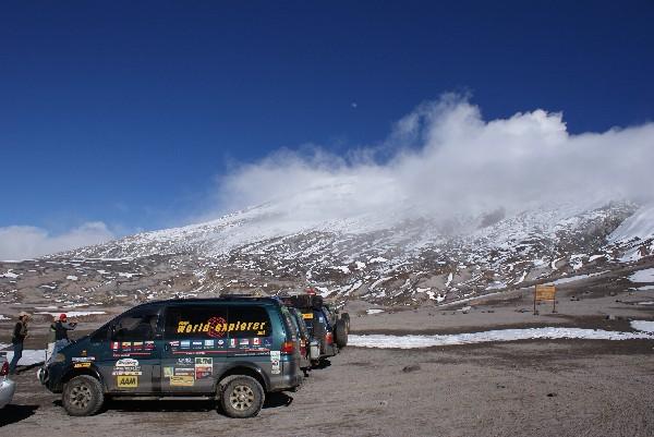 Active volcanoes at around 4200m