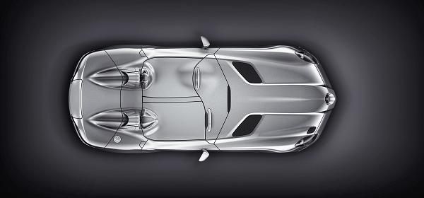 Tonneau covers enclosing the Stirling Moss' cabin.