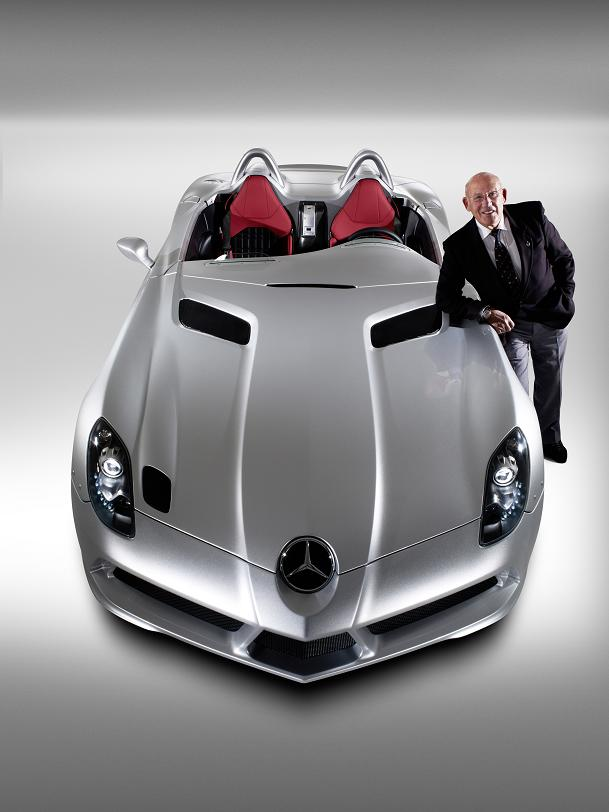 Styling heavily reworked from SLR McLaren. Car seen pictured with the man himself, Sir Stirling Moss.