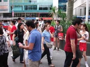 Shell's Men in Red in Kuala Lumpur