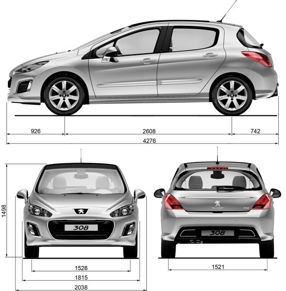peugeot 308 facelift to make geneva debut. Black Bedroom Furniture Sets. Home Design Ideas