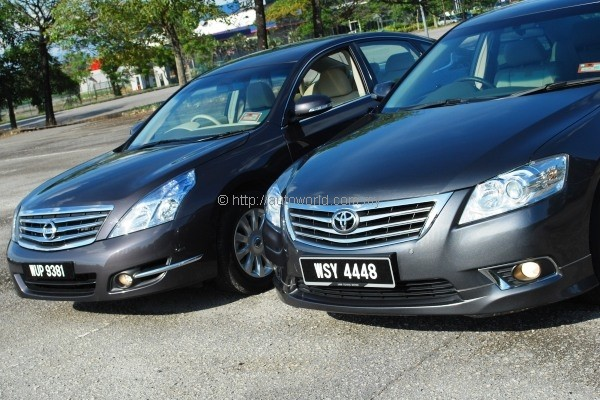 Nissan Teana 200 XE vs Toyota Camry 20G  The 20litre Dsegment