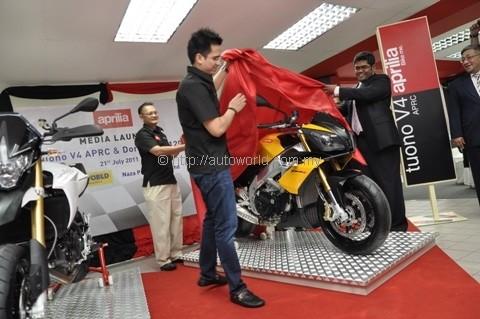 Naza Launches Aprilia Tuono V4 APRC with Flagship Showroom Opening