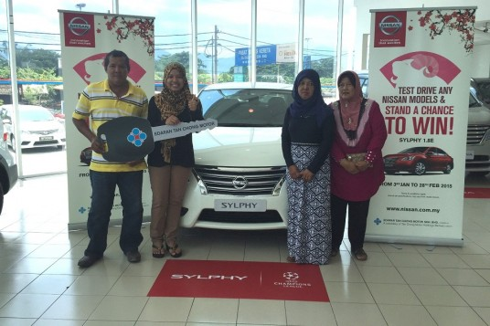Brand new Nissan Sylphy for ETCM campaign winner
